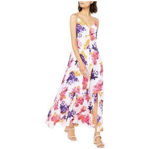 Bar III White Floral Maxi Dress Size 14